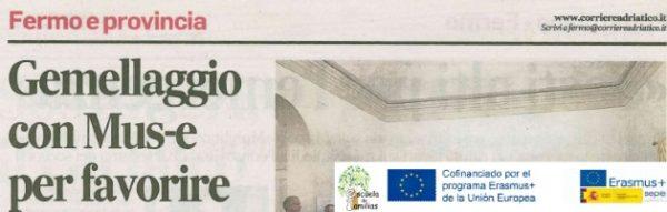 La labor de la 'Escuela de Familias', presente en la prensa italiana (Fermo)