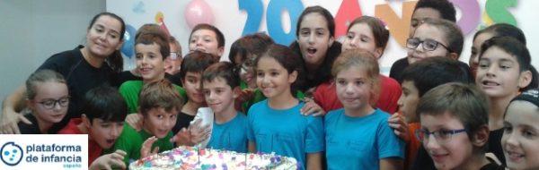 La FYME y el CEIP Miguel de Unamuno colaboraron en el acto del 20º aniversario de la Plataforma de Infancia