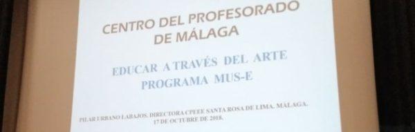 El Programa MUS-E, presente en las jornadas de la Universidad de Málaga 'Objetivo: visibilizar el autismo'