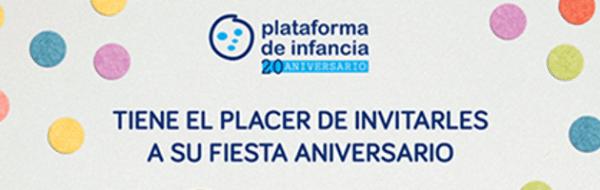 La FYME colabora en el acto del 20º aniversario de la Plataforma de Infancia