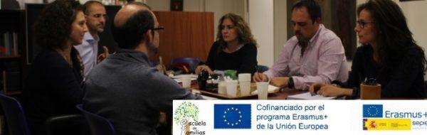 Proyecto Erasmus+ 'Escuela de Familias': reunión de trabajo en Madrid
