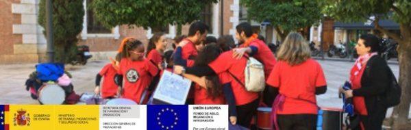 Actuación de la batucada del CEIP Antonio Ferrandis en la Universidad de Valencia