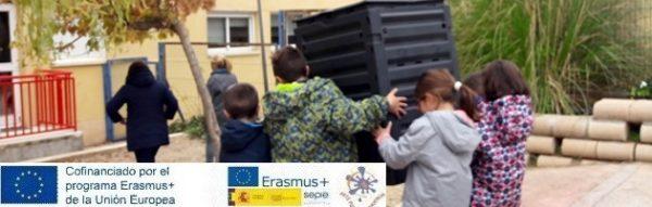 Proyecto Erasmus+ 'Arte por la Convivencia': Taller de compostaje en el CEIP Tomás y Valiente