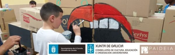 CEIP San Pedro de Visma: 'Muro-Lado Oscuro-Lado Luminoso'