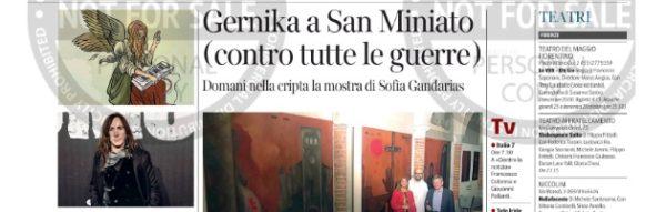 'Arte en Escena': Gran repercusión en los medios de 'Gernika', de Sofía Gandarias, en la Cripta de la Basílica de San Miniato al Monte (Florencia)