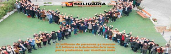 #Rentaterapia: 11 millones de personas ya marcan la 'X Solidaria' en la declaración de la renta, pero podemos ser muchas más