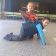 Violines humanos de 2º del Lope de Vega de Leganés por Rosa Castillo