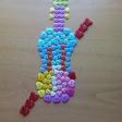 Violín por la Paz de botones del CEIP Prícipe Felipe de Ceuta