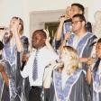 La actuación de Coro Gospel de Madrid levantó un fuerte aplauso.