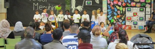 Celebración del Centenario de Yehudi Menuhin en la Escola Concepción Arenal de Barcelona
