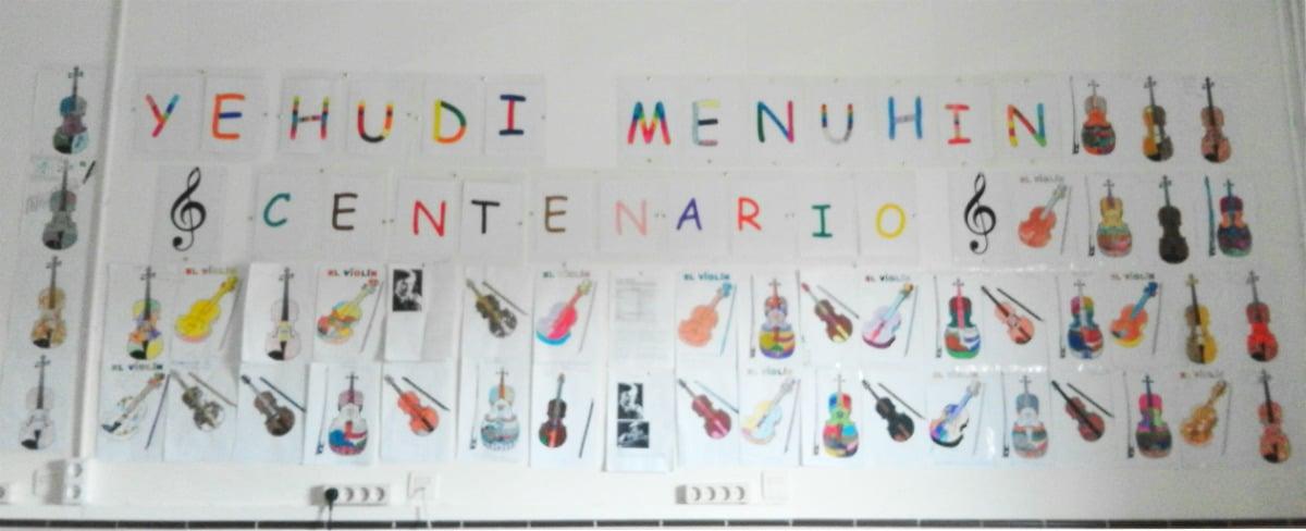 Violines por la Paz para el Centenario de Menuhin en el CEIP Francisco Parras de Losar de la Vera, Cáceres