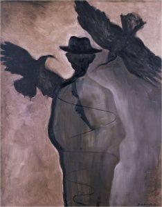 'Kafka, el Visionario' es una serie de pinturas de Sofía Gandarias