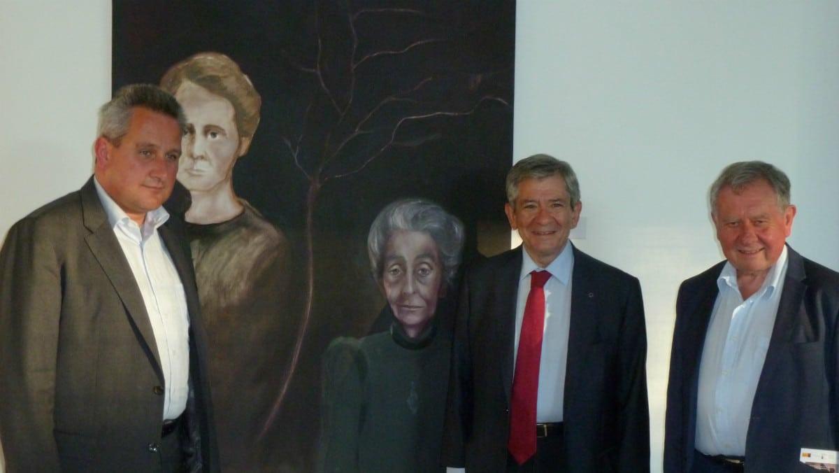 Inauguración de la exposición 'Kafka, el Visionario' en Bergen Belsen.