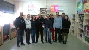 Mario Benítez (a la izquierda), con el grupo de docentes del Méndez Núñez