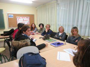 La formación para docentes del Ortiz Echagüe se celebró en la sala de profesores.