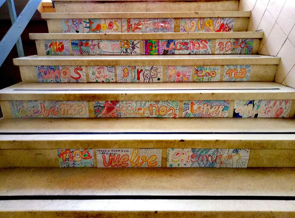 Trabajo MUS-E de Plástica en el CEIP Real de Melilla, con la artista Karima Soliman.