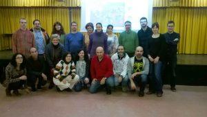 Foto del grupo de docentes del Salvador Dalí que participó en la formación