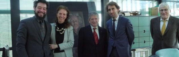 Presentación del cuadro Germaine Tillion, de Sofía Gandarias, en el Museo de la Resistencia.