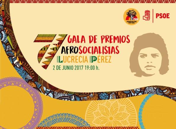 Cartel de la 7ª Gala de Premios Afrosocialistas Lucrecia Pérez