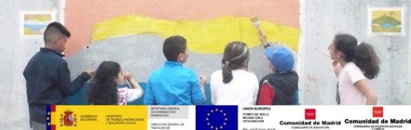 Creación de un mural por la diversidad intercultural y la igualdad de género en el CEIP Séneca de Parla