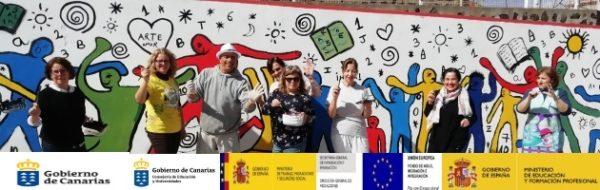 Plástica y pintura para las familias y profesores en los centros de Canarias