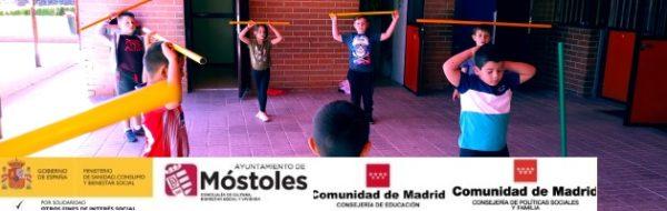 Campaña 'EnredArte' Móstoles: aprendemos sobre el equilibrio para reflexionar sobre los Derechos Humanos en el CEIP Jorge Guillén