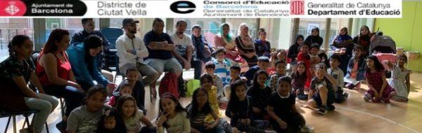 Sesiones de trabajo con familias en la Escola Milà i Fontanals