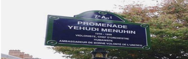 Yehudi Menuhin ya tiene una calle con su nombre en París