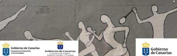 CEIP Milagros Acosta García: Talleres con Familias 'Arteando 2019-2020' - Realización del mural 'Deporte y Arte'