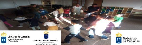 Danza con Rosa Castillo en el CEIP Costa Calma