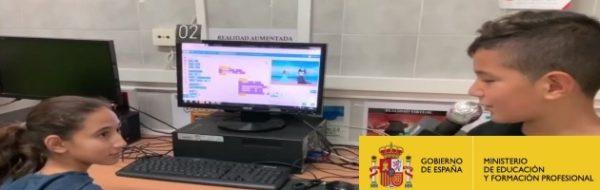 'Telediario 1ª Edición', en el CEIP Príncipe Felipe