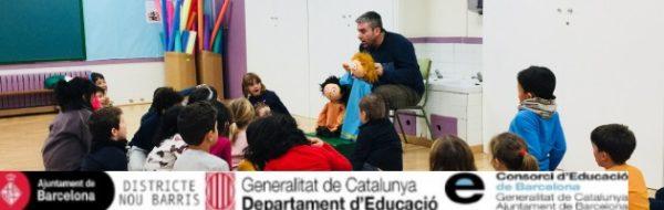Desde los títeres recreamos historias y personajes en la Escola Splai