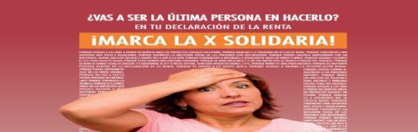 Marcar la #XSolidaria en la declaración de la renta: un gesto de compromiso y solidaridad ciudadana en tiempos de crisis