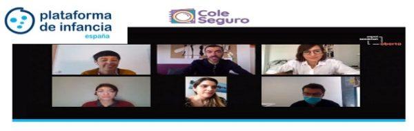La Plataforma de Infancia presenta la iniciativa #ColeSeguro, organizando un debate sobre la realidad educativa actual