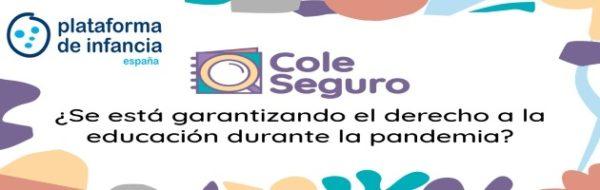 Plataforma de Infancia: #ColeSeguro, por una educación segura y transparente durante la pandemia por la COVID-19