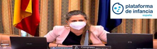 La Plataforma de Infancia comparece en Congreso para pedir enmiendas a la Ley Orgánica de Protección Integral a la Infancia y a la Adolescencia frente a la violencia