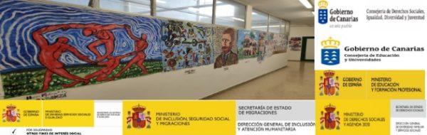 MUS-E Canarias: paredes de colores que esperan a los niños y a las niñas