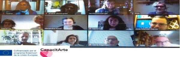 Erasmus +'Capacitarte': reunión online de los socios del Proyecto
