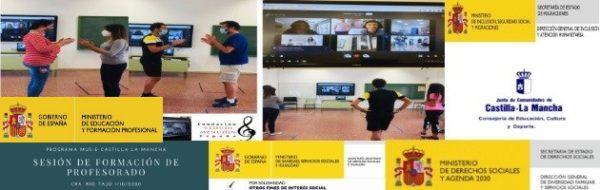 Formaciones online de docentes en el CRA Río Tajo. Animamos al resto de centros