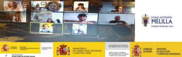 Reunión virtual de coordinación de artistas de Melilla