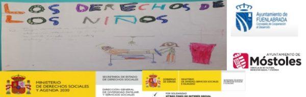Pintamos los derechos de las niñas y de los niños, que no paran de Enred-Arte y de Solidariz-Arte