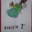 Violín por la Paz dibujado por alumnos y alumnas de 2º del CEIP Lope de Vega de Leganés. Enviado por Rosa Castillo.