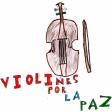 Violín por la Paz dibujado en el CEIP Andrés Manjón de Ceuta