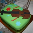Tarta con violín para una excelente violinista de Murcia (Marina).