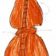 Violín por la Paz dibujado por las niñas y niños del CEIP Príncipe Felipe de Ceuta